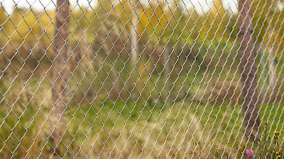 Steel chain link fencing installed.