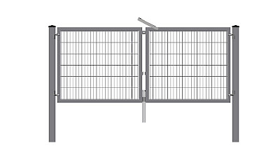 Leaf swinging gates and access gates
